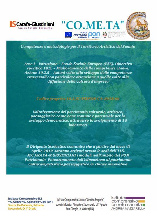 Competenze e metodologie per il territorio artistico del Sannio – Cometa